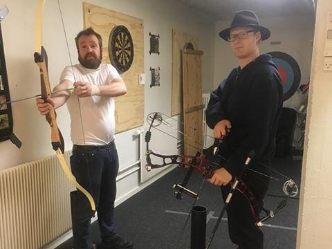 Træning til jagtprøven med bue